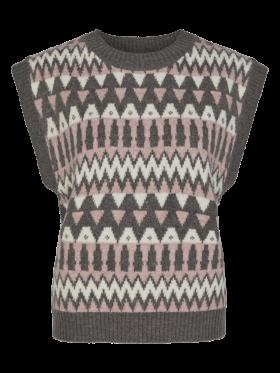 FREEQUENT - Merla vest med mønster