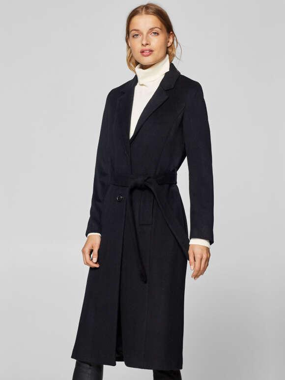 Esprit - Uldfrakke Med Cashmere