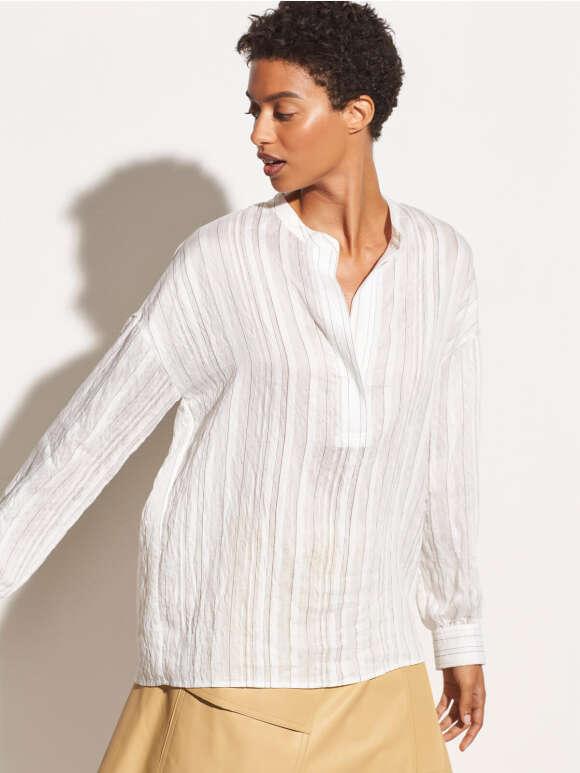Vince - Drape Striped Bluse