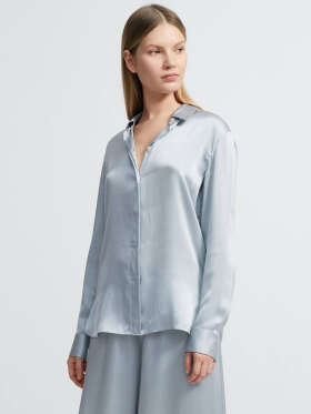 THEORY - Washed Silk Satin Skjorte