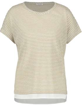 Gerry Weber - Sporty Stribet Hør T-shirt