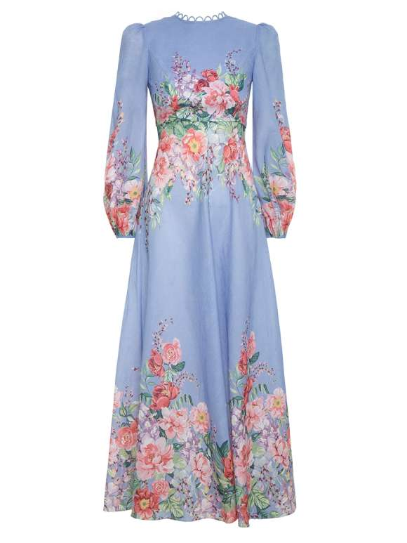 Zimmermann - BELLITUDE Linen Flora Dress