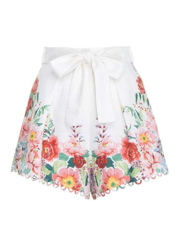 Zimmermann - BELLITUDE Linen Flora Shorts
