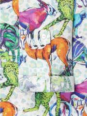 Smashed Lemon - Skjortekjole med savanne dyr