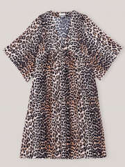 Ganni - Cotton Silk Leo Kjole
