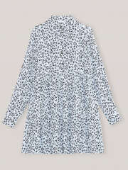 Ganni - Printed Crepe Layer Kjole