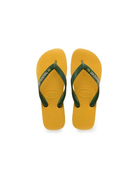 HAVAIANAS - Brazil Logo Banana Flip Flops