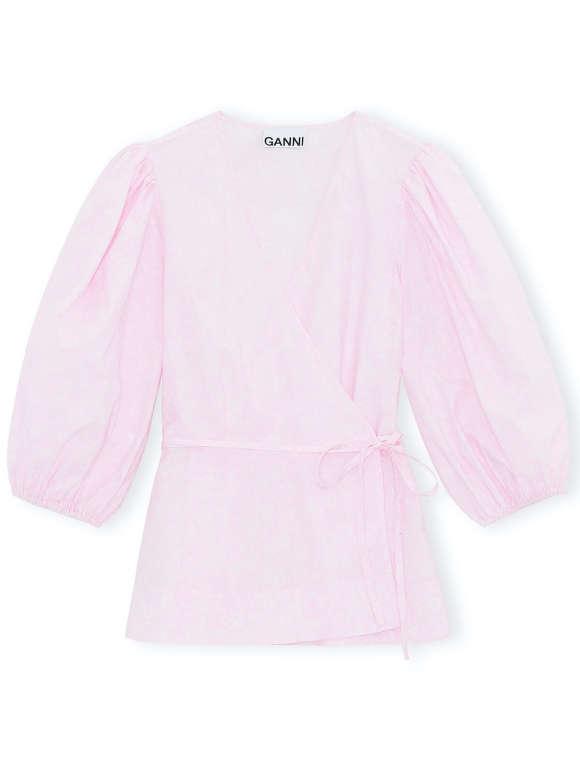 Ganni - Raffineret Wrap Bluse