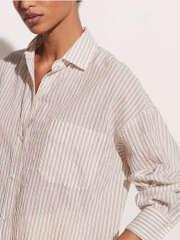 Vince - Stribet Bomuld Skjorte