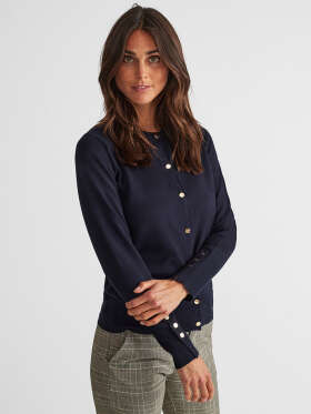 FREEQUENT - KATIE CAR BUTTON cardigan