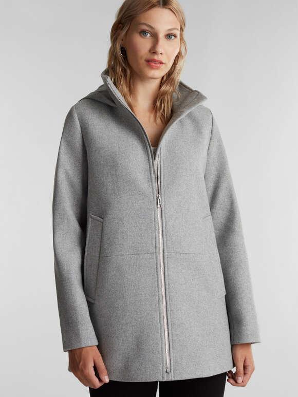 Esprit - Enkel og sporty uldjakke