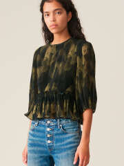 Ganni - PLEATED GEORGETTE BLUSE