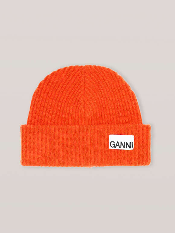 Ganni - RECYCLED WOOL KNIT HAT