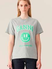 Ganni - BASIC COTTON JERSEY T-SHIRT, SMILEY