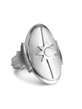 Jane Kønig - SHIELD RING SØLV