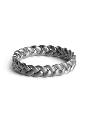 Jane Kønig - MEDIUM BRAIDED RING SØLV