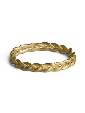 Jane Kønig - SMALL BRAIDED RING GULD