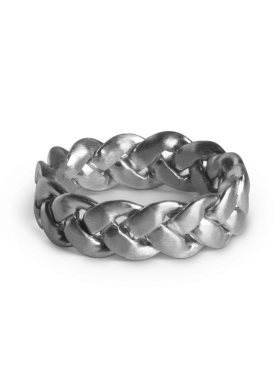 Jane Kønig - LARGE BRAIDED RING SØLV