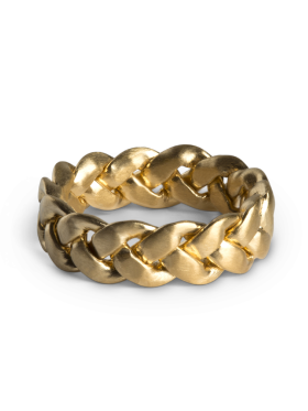 Jane Kønig - LARGE BRAIDED RING GULD