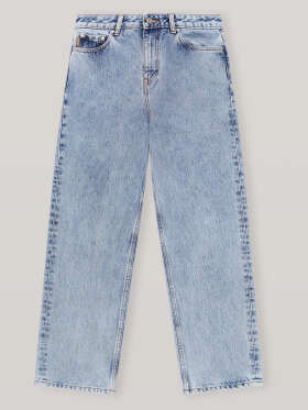 Ganni - HIGH-RISE RELAXED ACID-WASH JEANS