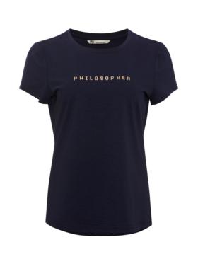 PBO - Philosopher t-shirt med skrift